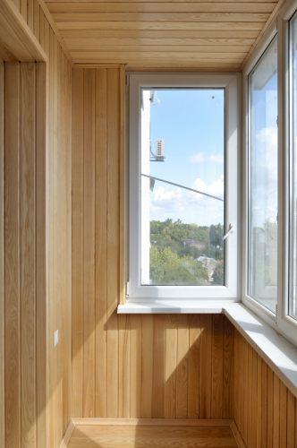 Отделка балкона деревянной вагонкой - фото балкона, лоджии -.