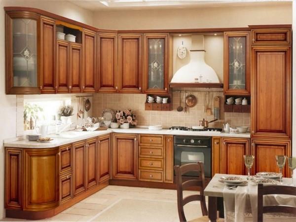 кухні дерев'яні фото