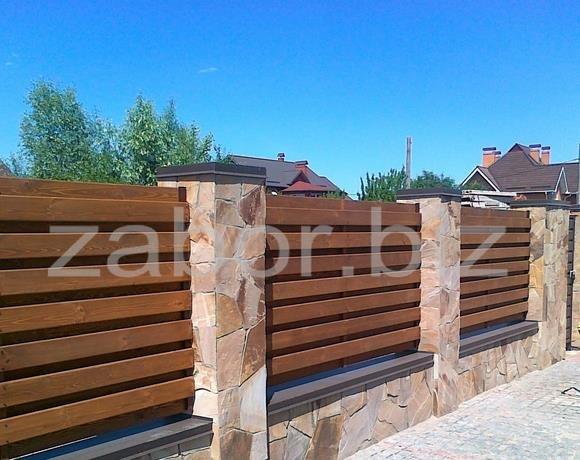 Забор деревянный под ключ
