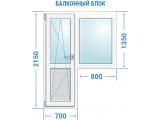 Фото  1 Балконный блок (окно+дверь) 2343450