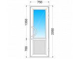 Фото  1 Двері вхідні металопластикові 2173590