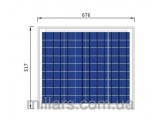 Солнечная батарея Perlight 50W POLY 12BT
