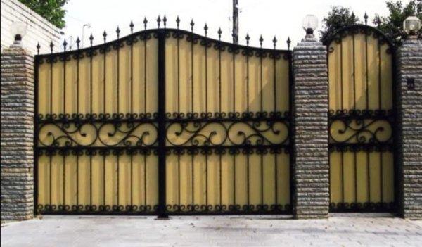 Фото 4 Ворота из профнастила,распашные,кованые 332662