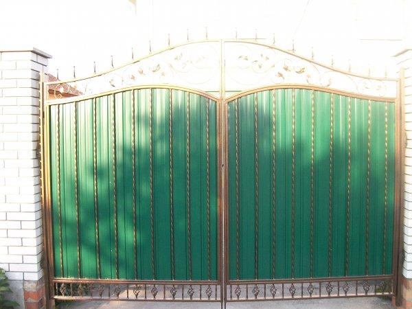 Фото 1 Ворота с элементами ковки 332111