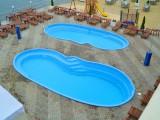 Бассейн стекловолоконный 10,5 х 4,5х1,2-2,05