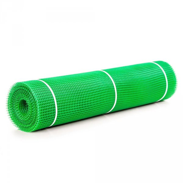 Фото 2 Сетка пластиковая садовая Клевер 10х10 мм 1х20 м зеленая 332154