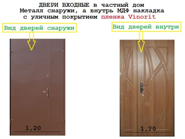 Фото 2 металические двери входние технические 336319