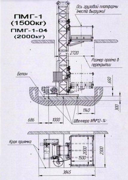 Фото 7 Н-59 м, г/п 1500 кг. Строительные Подъёмники Мачтовые Грузовые 336722