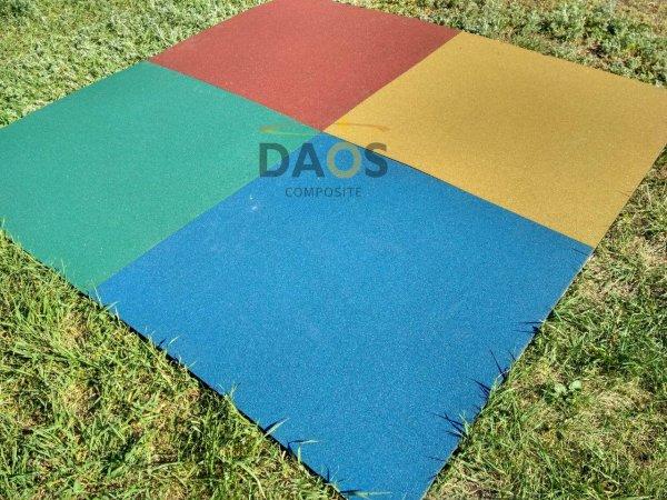 Фото 3 Гумова плитка для підлоги, гумове покриття СПОРТФЛЕКС, синє 336937