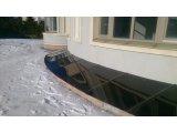 Фото  2 Стеклянный козырек для приямка на нержавеющем каркасе 2823487