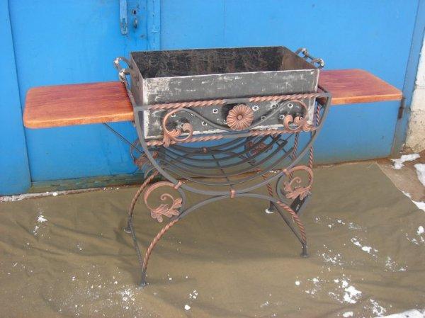 Фото 7 Мангал на колесах кований .мАНГАЛИ .БАРБЕКЮ. 336327