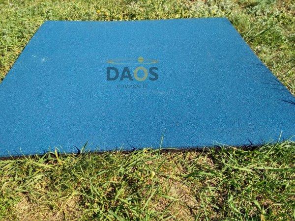 Фото 4 Гумова плитка для підлоги, гумове покриття СПОРТФЛЕКС, синє 336937