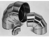 Фото  1 Отвод d 32 (30)мм из оцинкованной стали 0.5м для труб с базальтовой или каучуковой теплоизоляцией. 2066863