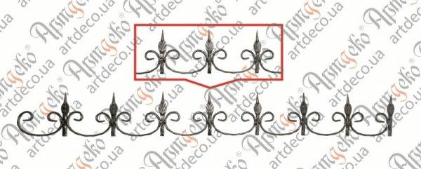 Фриз декоративний 150х1310х12х6/12 вальц., арт.15.001