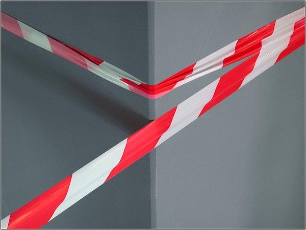 Фото 2 Лента оградительная (сигнальная) красно-белая, 72мм х 500м (Украина) 332020
