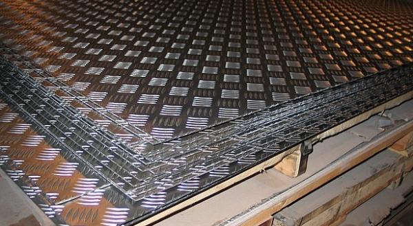 Фото 1 Лист алюминиевый рифленый квинтет 1-5мм - Вся Украина 297783