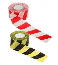 Фото 1 Лента оградительная (сигнальная) красно-белая, 72мм х 500м (Украина) 332020