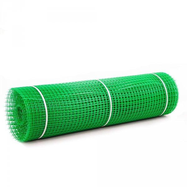 Фото 2 Сетка пластиковая садовая Клевер 20х20 мм 1х20 м зеленая 332153