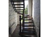 Фото 1 Лестница из массива Дуба с Резной входной Балясиной 329432