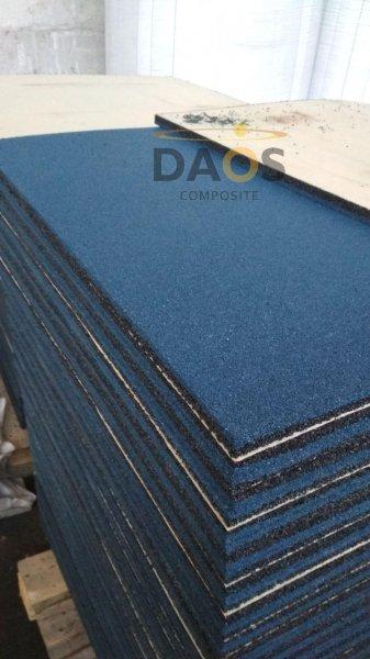 Фото 1 Гумова плитка для підлоги, гумове покриття СПОРТФЛЕКС, синє 336937