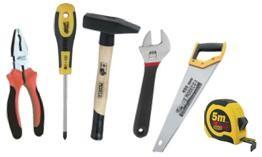 Ручной инструмент: отвертки, плоскогубцы, молотки, тиски, степлеры, ключи