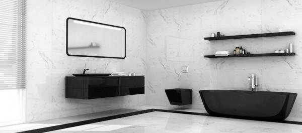 Керамическая плитка Calacata формат 30х90, поверхность глянцевая имитирующая мрамор.