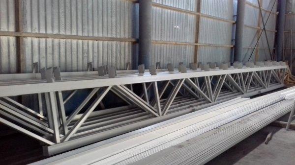 Фото  1 Продаються ферми перекриття,металеві,з паралельними поясами.ширина по осях=18м. 1401090