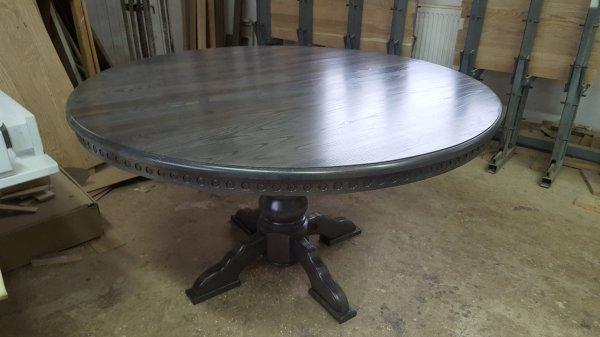 Фото  1 Круглый стол из полного массива Дуба 1866170