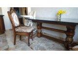 Фото 1 Кресло, Стулья из массива Дуба с резьбой. Кресло с мягкой спинкой 332431