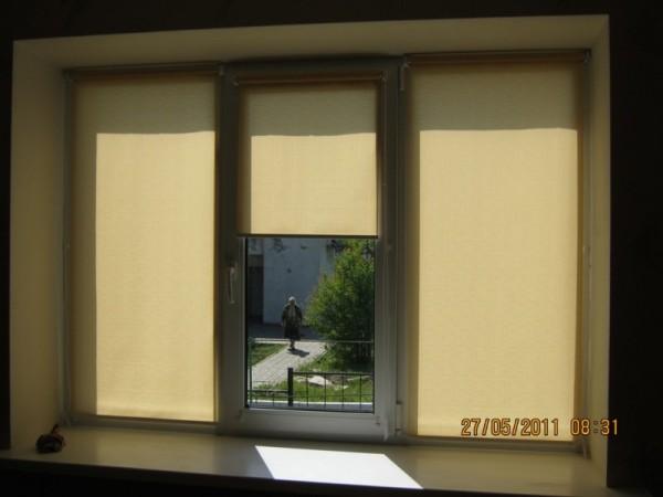 Рулонные шторы на окно, размер
