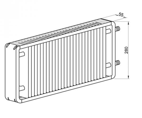Фото 4 Стальной панельный радиатор MaxiTerm КСМ-1-500 от 500 мм до 2000 мм 330830