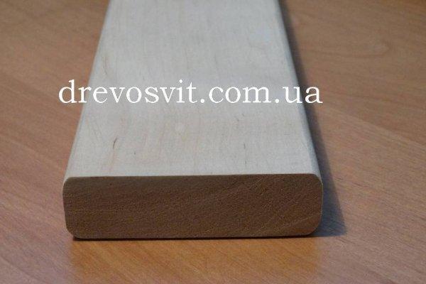 Брус полиць (вільха, липа) для лазні та сауни. Висока якість обробки деревини. Доставка по місту та області..