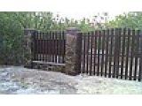 Ворота распашные или откатные штакетные (односторонняя/двухсторонняя зашивка)