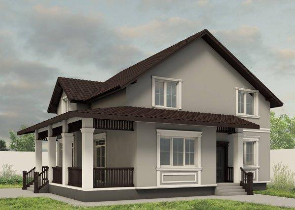 Фото  1 Дизайн фасада и фасадного декора 87974