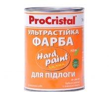 Фото  1 Полиуретановая латексная эмаль Hard Paint ИР-266 ПУ 0,75 л серая, ПроКристал 240204