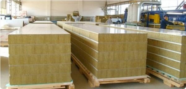 Панель сэндвич 50-200 мм с утеплителем минеральная (базальтовая) вата стеновая