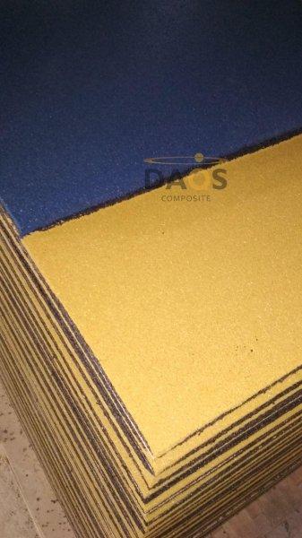 Фото 2 Гумова плитка для підлоги, гумове покриття СПОРТФЛЕКС, синє 336937