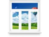 Пластиковое окно с фрамугой 1800х1700(2 створки)
