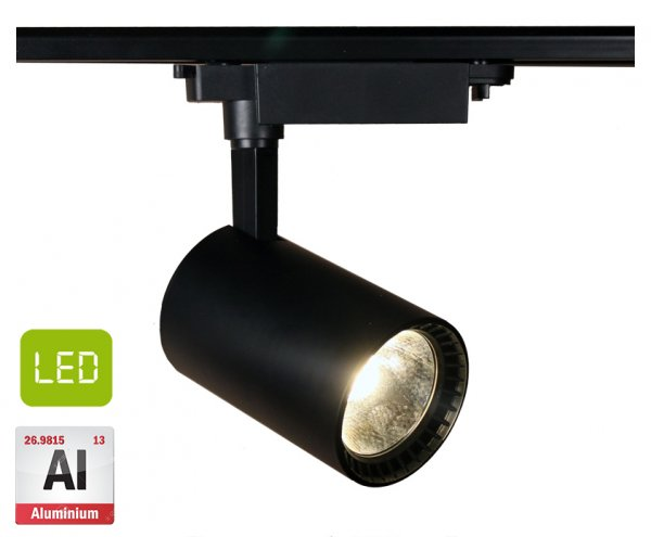Фото  1 Трековый светодиодный светильник ST-B30 30Вт 2700Лм 24° алюминий, черный 1864037