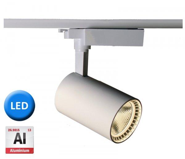 Фото  1 Трековый светодиодный светильник ST-W15 15Вт 1350Лм 24° алюминий, белый 1864032