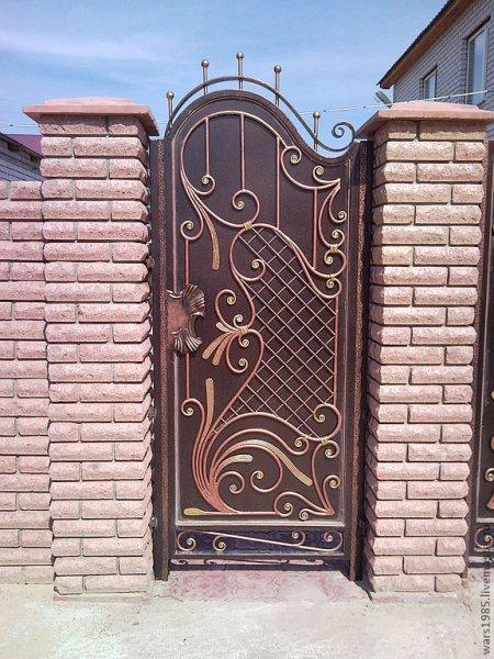 Фото 3 Ворота из профнастила,распашные,кованые 332662