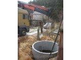 Кольца колодезные, канализационные доставка краном-манипулятором по Киеву и области.