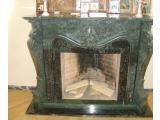 Фото  1 Камин мраморный Verde Guatemala каминные порталы 141579