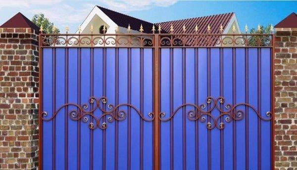 Фото 3 Ворота с профнастила 332651