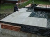 Фото  2 Цементно-стружечная плита ЦСП для изготовления фундамента с использованием несъемной опалубки. Толщина 20 мм. 2946529