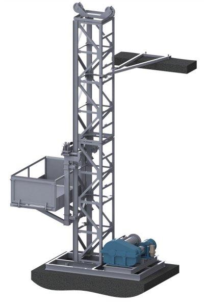 Фото  1 Н-81 м, г/п 2000 кг, 2 тонны. Грузовые мачтовые подъёмники строительные секционные для строительных работ. 2020153