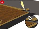 Фото  2 Паркетна підлога -ефективна звукоізоляція полотном Тексаунд 70, товщиною 3.8мм 2033573