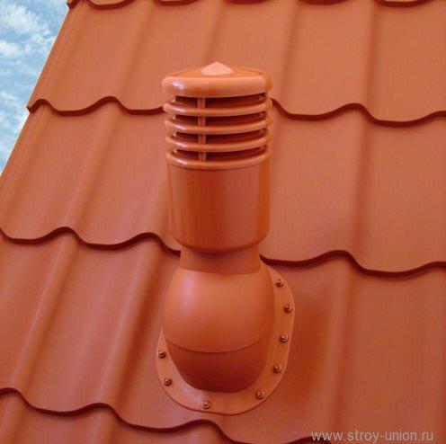 Фото  1 Проходные элементы вентиляции для металлочерепицы Kronoplast (Н=28 мм, не утепленный). 1421583