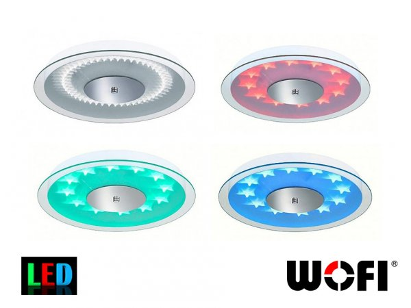 Фото  1 Настенный светильник Wofi Jana RGB LED 18Вт с пультом ДУ 1847997