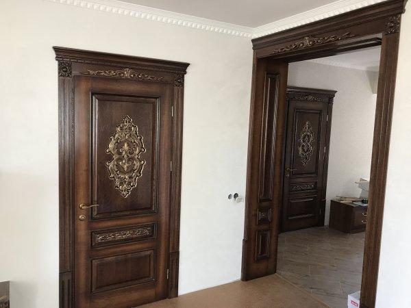 Фото 1 Міжкімнатні двері, Різьба, Патина, Дуб 324019